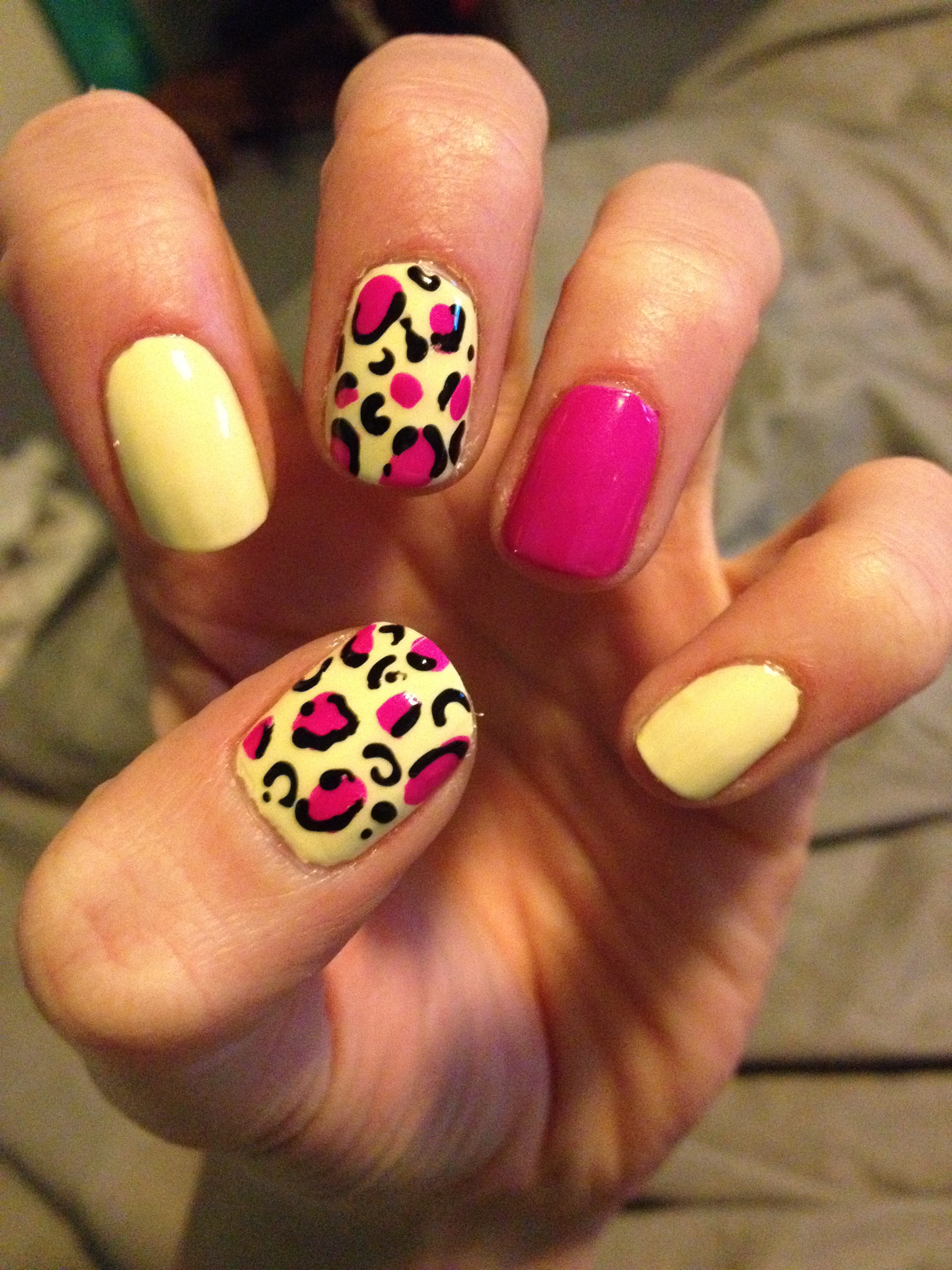 Cheetah nails tutorial courtneys craftincookin image prinsesfo Images