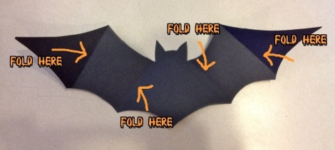 bat with folds writing