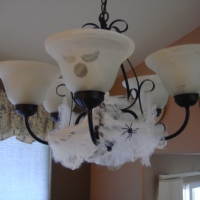Halloween Crafts |Spooky Light Fixture for FREE