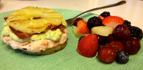 turkey burger with pineapple