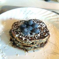Paleo | Blueberry Coconut Pancakes