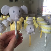 Cakepops | Yellow & Gray Baby Shower